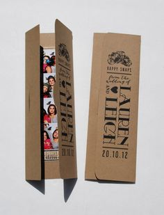 """A way to personalize your guests """"Photo Booth experience"""" even further. Photo Booth PhotoStrip Picture Holders door MYONESWEETDAYdotcom, $1.50"""