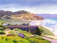 View of Torrey Pines  From an original painting by maryhelmreich
