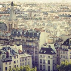 Paris Rooftops Photograph, View of Paris