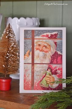 Vintage Santa Christmas Cards | Cottage at the Crossroads