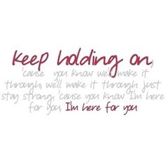 keep holding on lyric: