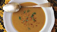 Winter Squash Soup with Red Chile and Mint | The Splendid Table