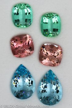 Green, Pink Tourmaline  - Aqua Earring by WILDS Global Minerals, via Flickr