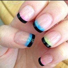 French Manicured Nails With A Twist  ( #nailart #manicure #pedicure #mani #pedi #nailpolish)