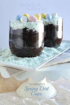 healthy dirt dessert, happy food, food coloring, dirt cup, dessert food
