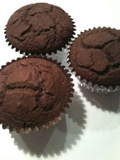 The dieter's dream chocolate muffins | #vegan recipe from Czech Vegan (in America) | Unsweetened, no sugar added. :)