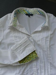 THE SEWING DORK: Revive a White Shirt With Fancy Cuffs and Collar - for Moms