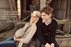 vintage maternity photos - different saying