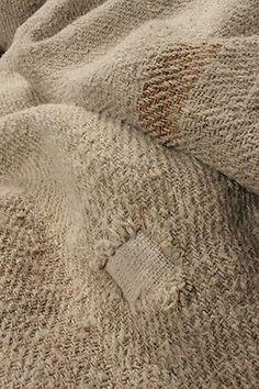 Rustic homespun hemp textile
