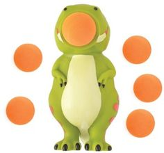 Dino Popper - Just squeeze the dinosaur's belly to launch the soft foam flying balls. The harder you squeeze, the farther it shoots.