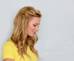 diy hairstyles, hair tutorials, side fishtail, side twist, twist fishtail, 15 hair, braid hair, fishtail braids, fishtail side