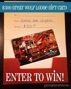 *ENTER TO WIN!* $300 Great Wolf Lodge gift card - Queen Bee Coupons & Savings