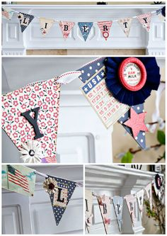 Liberty Banner, a FUN craft idea for the 4th of July!