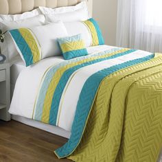 Bedspread In Teal And Lime Www Worldstores Co Ukpriva