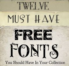 Great free fonts!!