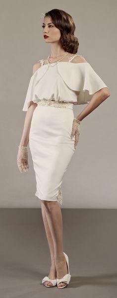 Short vintage hollywood inspired wedding dress https://www.etsy.com/il-en/listing/157164861/veronica-short-two-piece-wedding-dress?ref=shop_home_active