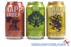 Cans from Madtree Brewing Company in Cincinnati, Ohio - the state's first canned craft beers.