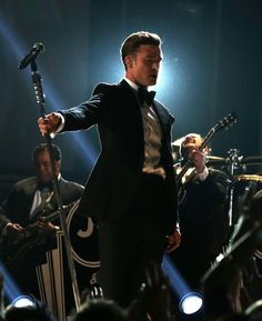 Justin Timberlake in his suit and tie