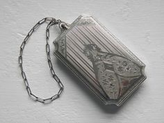 Victorian Silver Dance Coin Compact Purse, 1900 - 1920