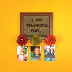 Floral Thankful Frame free instructions from Michaels