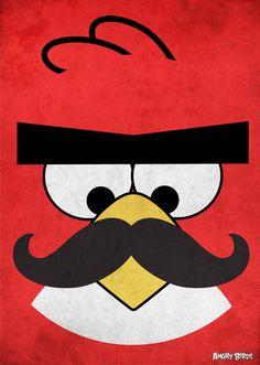Angry Bird Mustache.