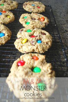 M & M Monster Cookies