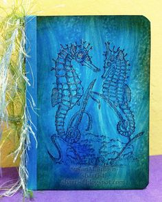 This cool water fantasy was created by Susan M. Brown using #VLVS! #stamps and #highlighter - get the images @ vlvstamps.com