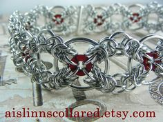 Quadriskele Celtic Chainmaille Collar Choker by aislinnscollared, $60.00