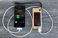 Charge your phone or tablet with this portable solar charger.