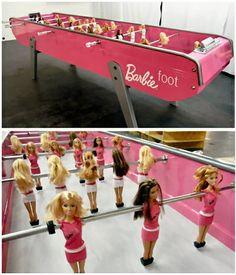 Foosball Barbie