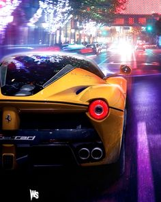 Stunning Yellow #LaFerrari Fires Up, Blasts Down the Track! Hit the pic to see this epic #hypercar in motion!