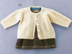 Fancy Baby Girl Jacket free crochet pattern