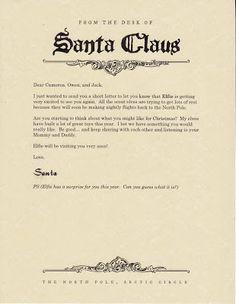 {Elf on the Shelf} Letter from Santa