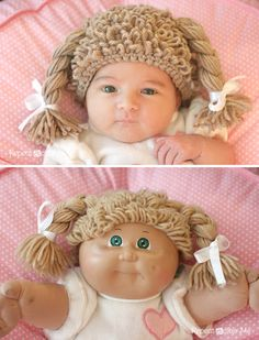 How To: Crocheted Cabbage Patch Doll Hat