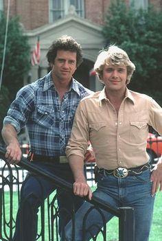 """""""Dukes of Hazard, The"""" Tom Wopat, John Schneider CBS.  Bo and Luke duke looking so fine!"""