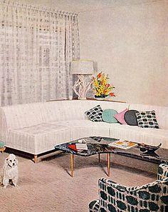 1961 - All White Living Room