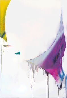 Painting by Katharina Grosse Untitled, 2010, acrylic on canvas, 84 3/4 x 57 3/4 inches