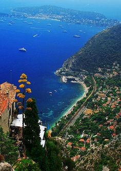 Hillside Views of the Mediterranean - Èze, France