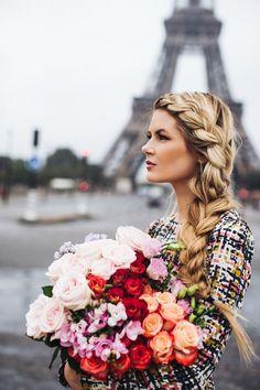 Flowers and braids in Paris