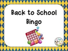 Free: Back to School Bingo Get your students up and moving with this walking BINGO game!