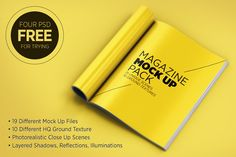Check out Magazine Mock Up Pack by Mucahit Gayiran on Creative Market
