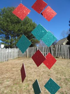 GORGEOUS RED AND TURQUOISE DIAMOND GARLAND  $15