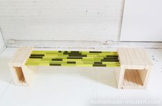 HomeMade Modern Colorful Mudroom Bench