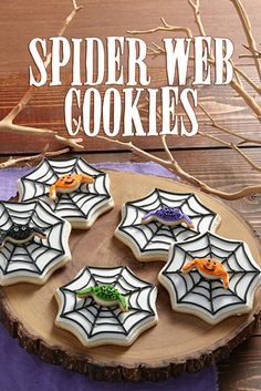 Cut out these 3-D cookies easily using the Wilton Spider Web Cookie Cutter Set.