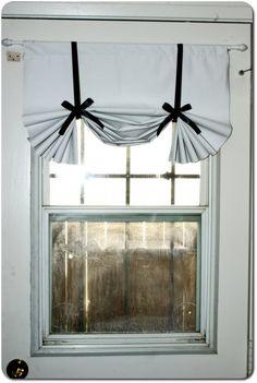 laundry room curtain idea