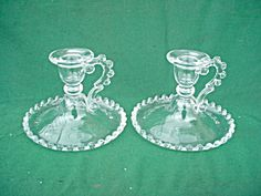 Pr Imperial Candlewick Candleholders. Click on the image for more information.