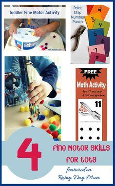 4 Fine Motor Skills activities for Tots