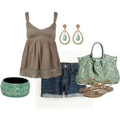 summer, created by #yiannab on #polyvore. #fashion #style O'Neill J.Crew