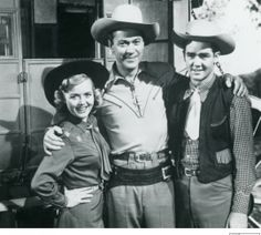 """Sky King""   (1951–1962)  Kirby Grant as Sky King, Gloria Winters as Penny King."