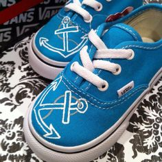 van shoe, hand, anchor van, paint toddler, anchors